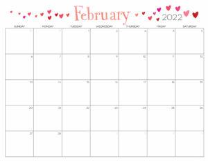Cute Calendar February 2022