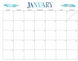 Cute Calendar January 2022