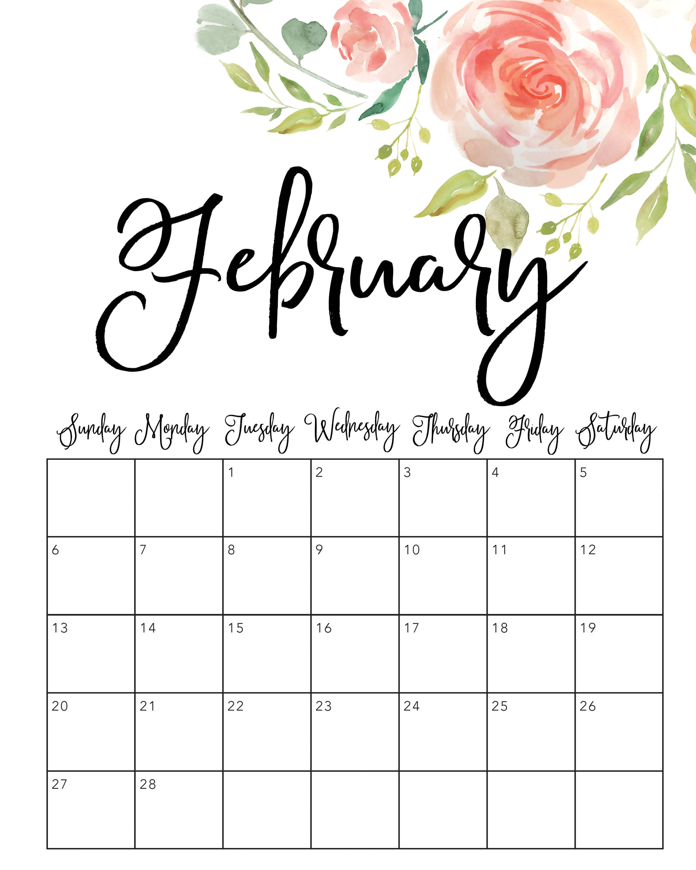 February 2022 Cute Calendar
