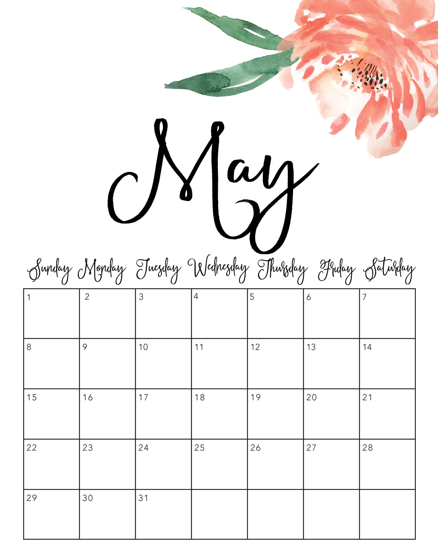 May 2022 Cute Calendar